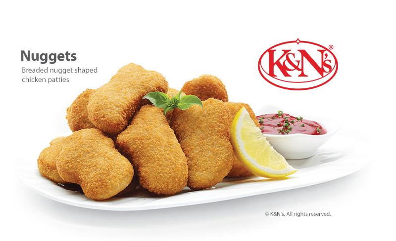K&N's Nuggets - Breaded nugget shaped chicken patties