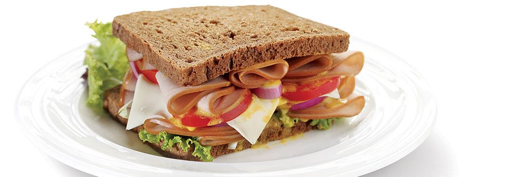 Bologna Whole Wheat Sandwich