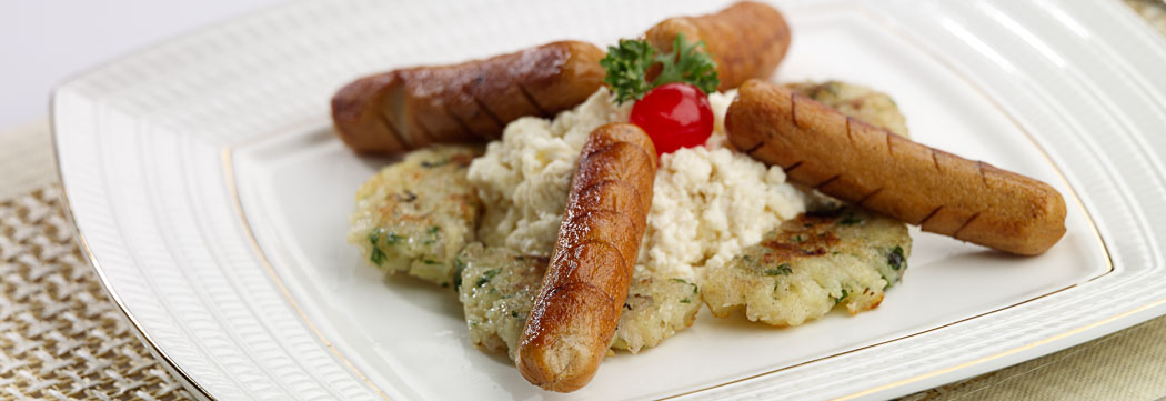 Breakfast Sausage with Scrambled Eggs