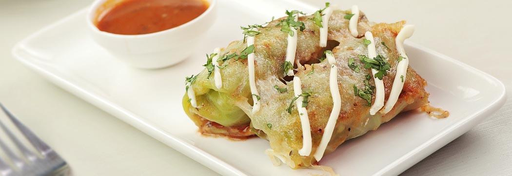 Cabbage Croquettes Enchiladas