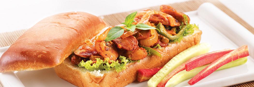 Frankfurter Mustard Pickle Sandwich