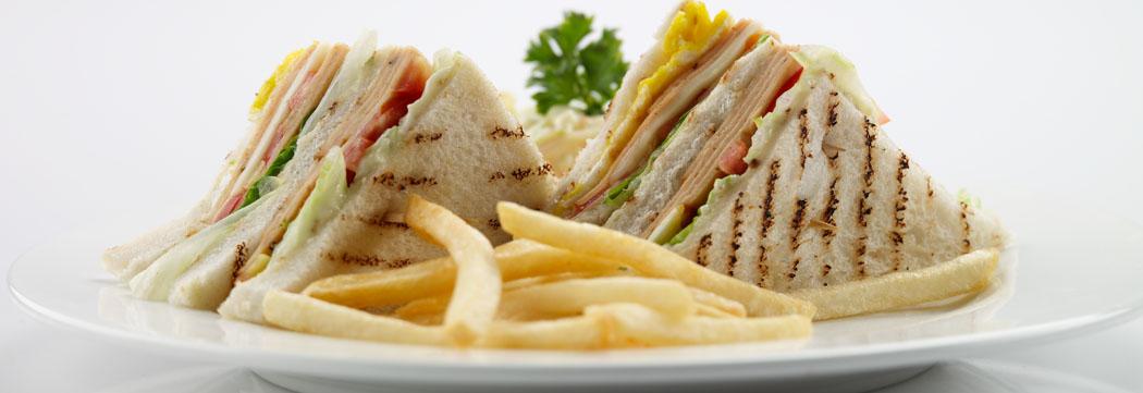 Mortadella Club Sandwich