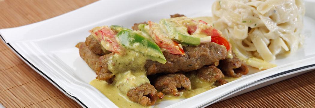 Seekh Kabab with Mustard Vegetables
