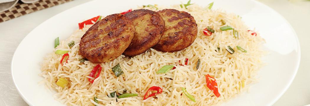 Shami Kabab Chilli Garlic Rice