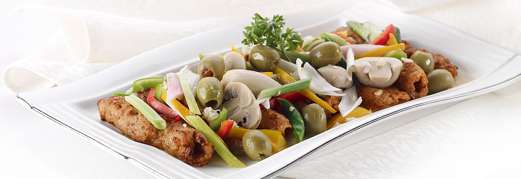 Steamed Seekh Kabab Vegetable Mix