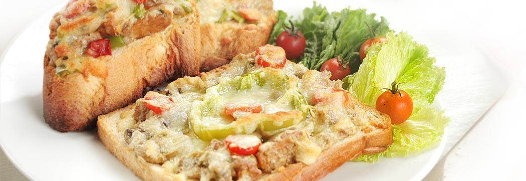 Tikka Chunks Open Faced Sandwich